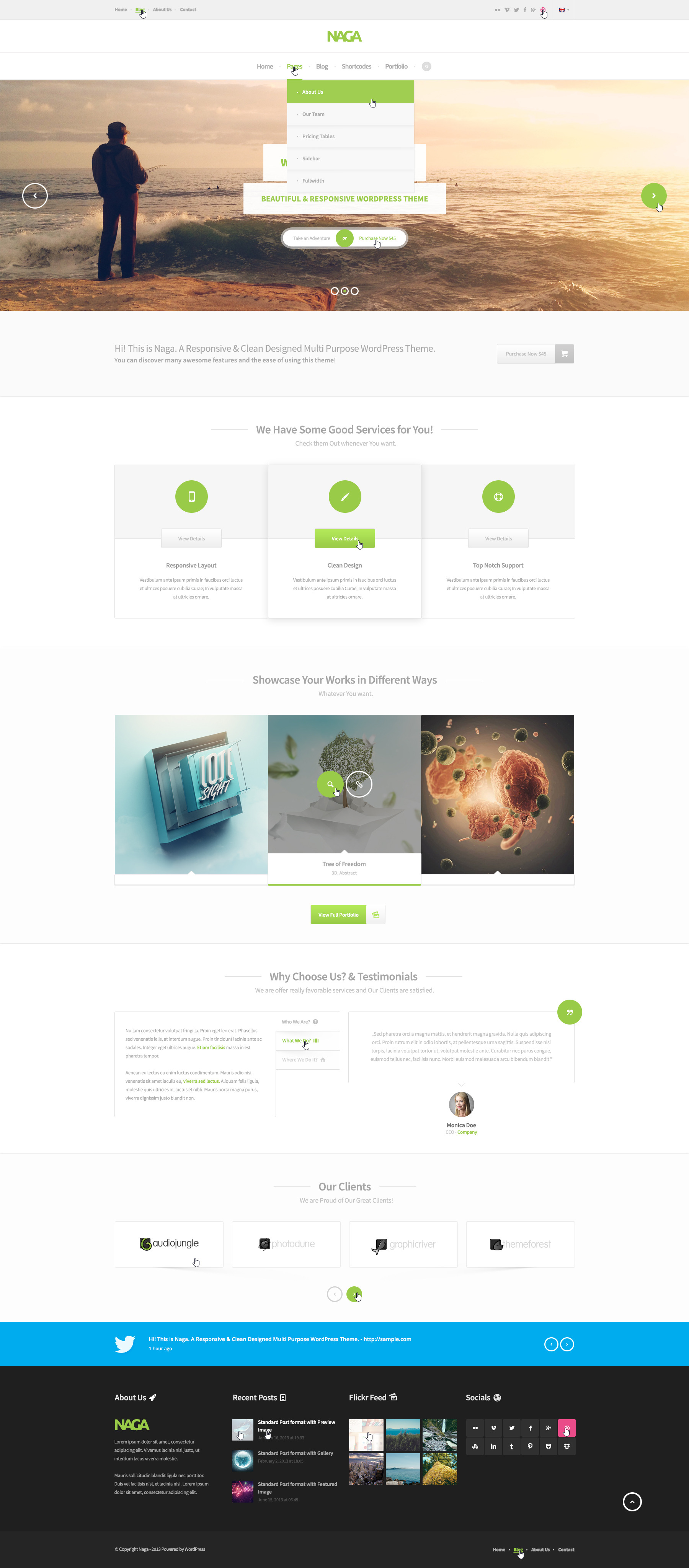 Naga - Multi Purpose PSD Template