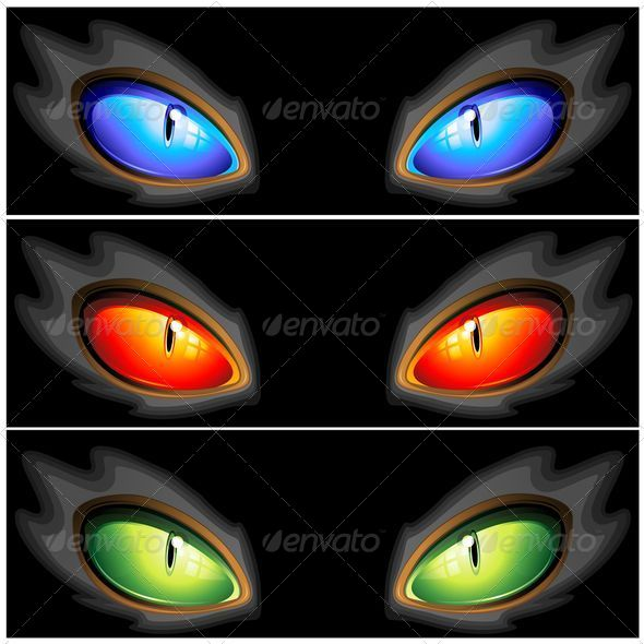 GraphicRiver Cat Eyes Set of Three Colors 5176933
