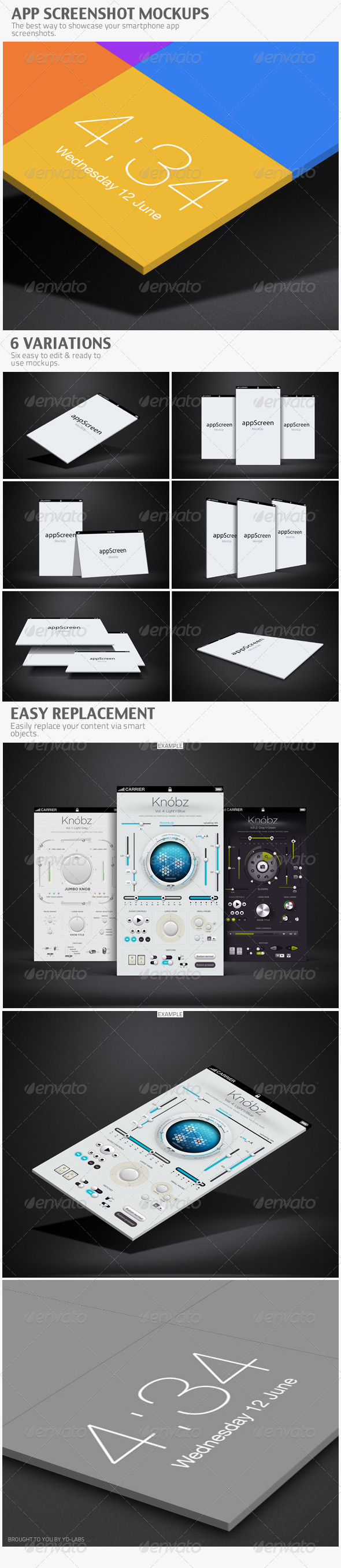 App Screenshot Mockups - Product Mock-Ups Graphics