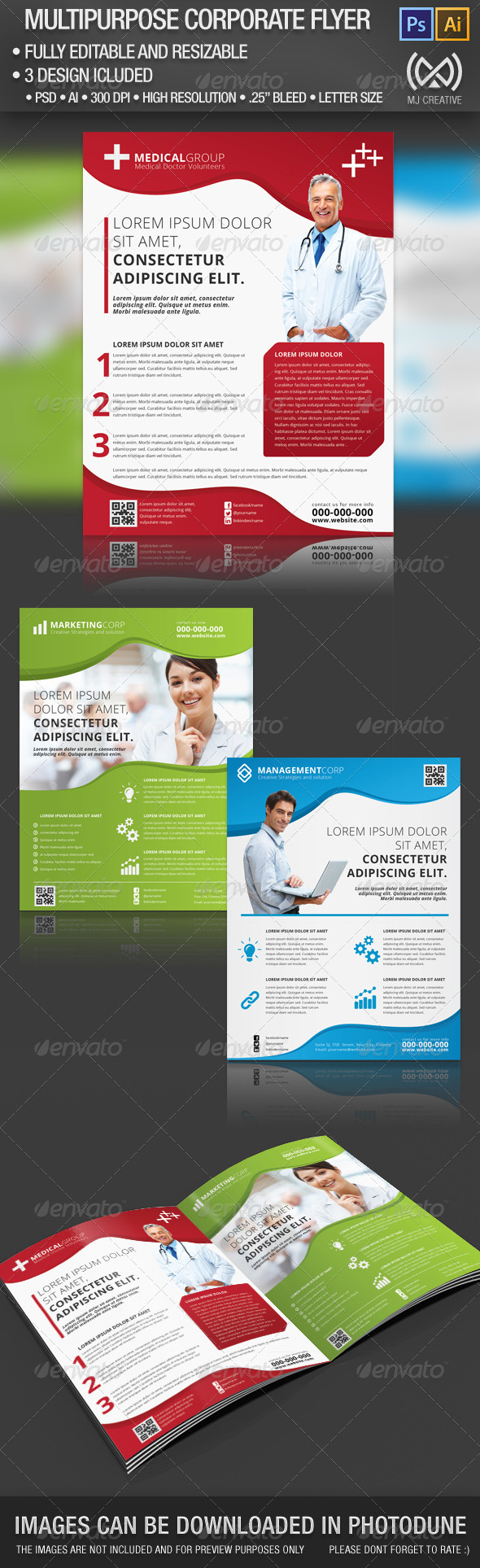 GraphicRiver Multipurpose Corporate Flyer 5177405