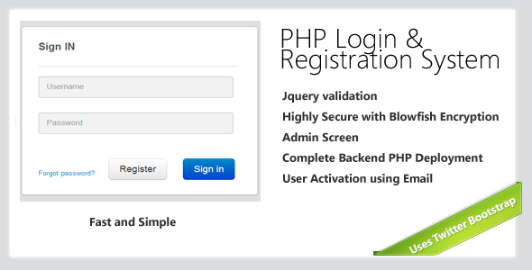 CodeCanyon Secure-PHP-Login & Registration System 5178737