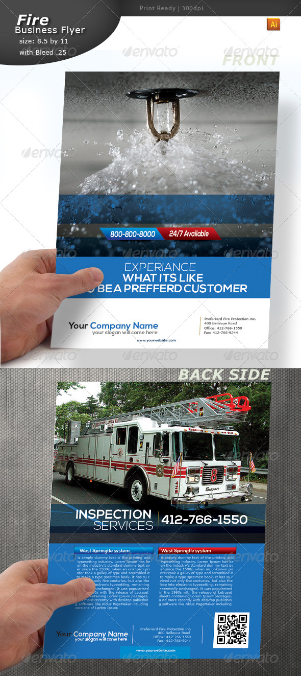GraphicRiver Fire Alert Flyer 5178738