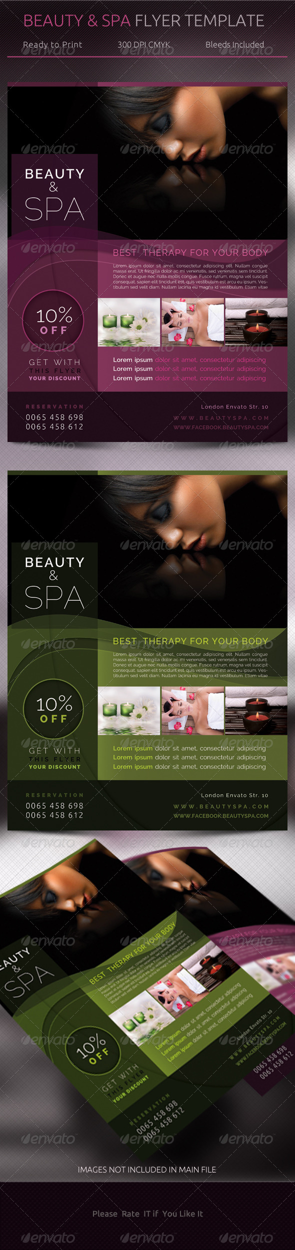 GraphicRiver Beauty & Spa Flyer Template 5178854