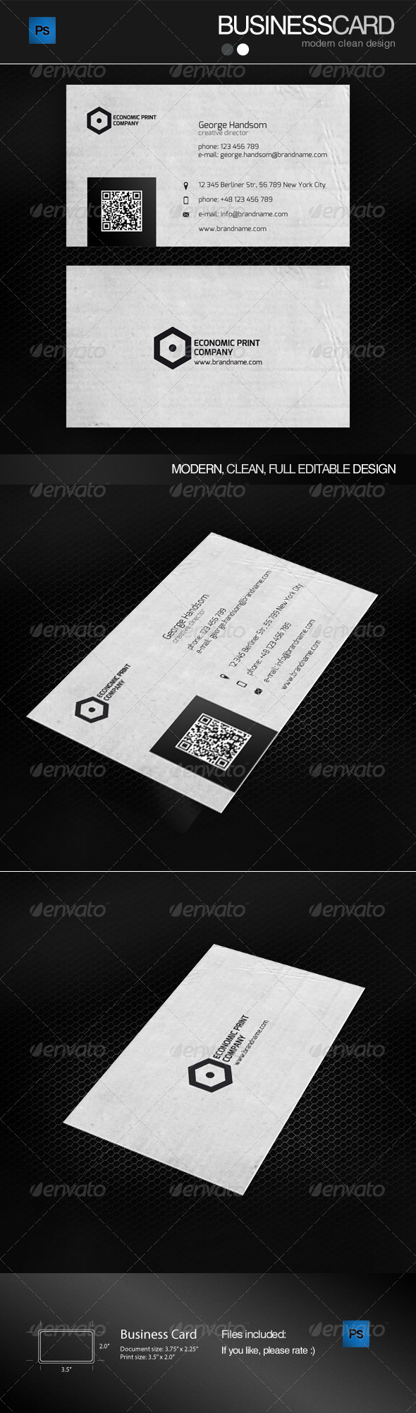 GraphicRiver Three Business Card With Stripes 4986332