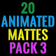 Clean Animated Motion Mattes Pack 3 - VideoHive Item for Sale