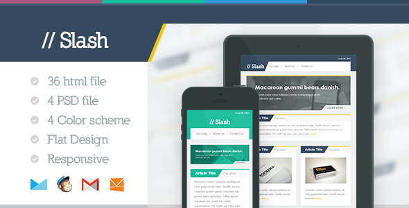 ThemeForest Slash Responsive E-mail Template 5179603