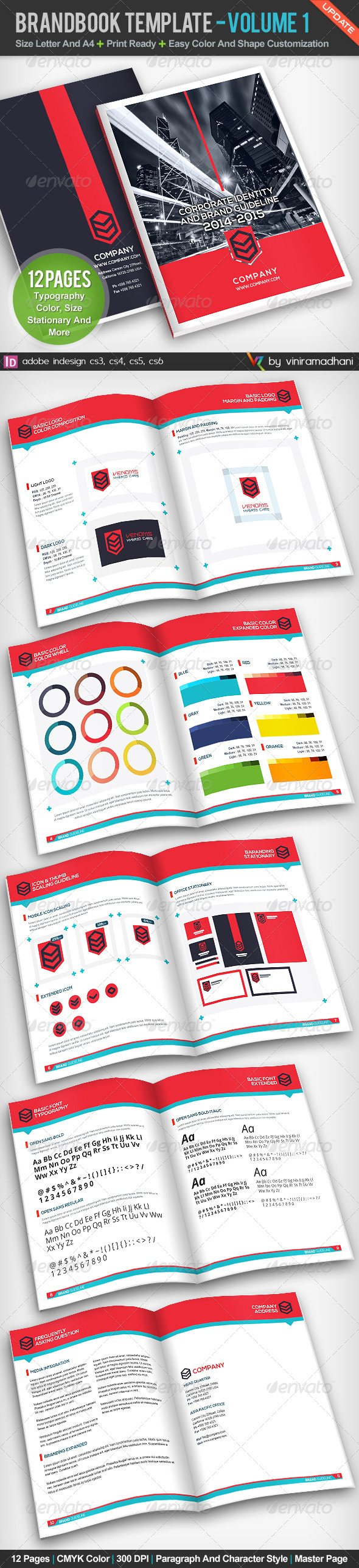 GraphicRiver BrandBook Template Volume 1 5116680