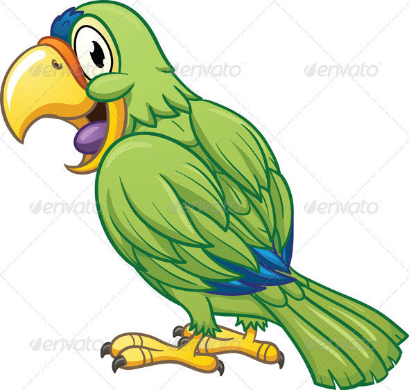 GraphicRiver Cartoon Parrot 5179993