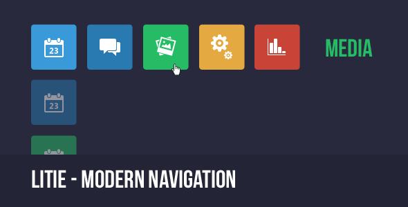 CodeCanyon Litie Modern Css Navigation 5180581