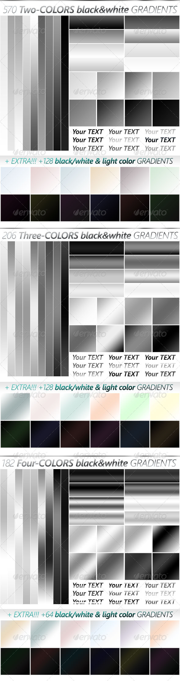 The Ultimate Black & White Gradients Collection - Photoshop Add-ons