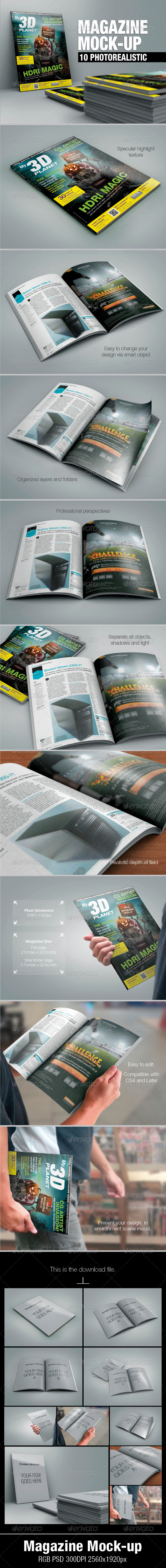 GraphicRiver Magazine Mock-up 5180866