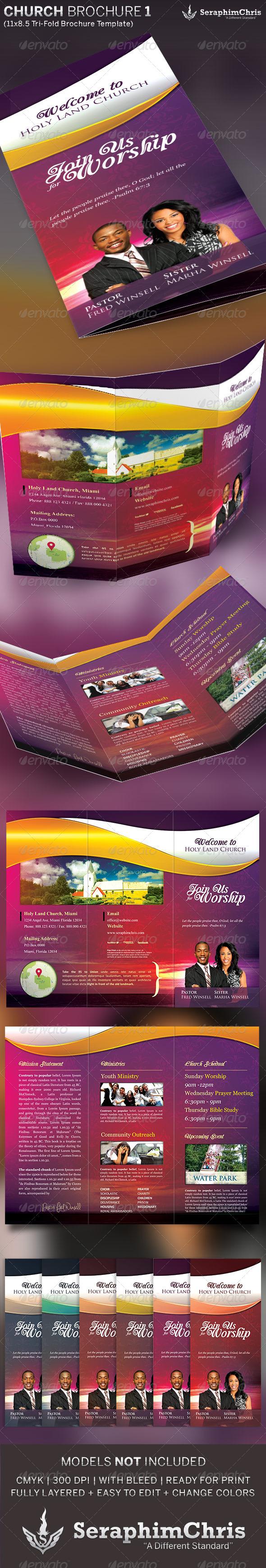 GraphicRiver Church Tri-Fold Brochure Template 1 5181903