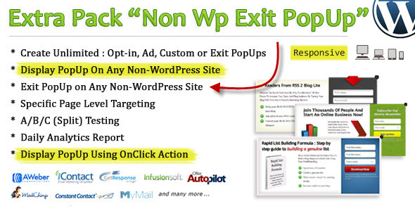 Non Wp Exit PopUp - CodeCanyon Item for Sale