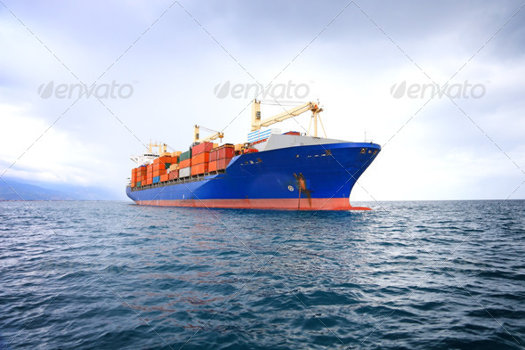PhotoDune commercial container ship 532680
