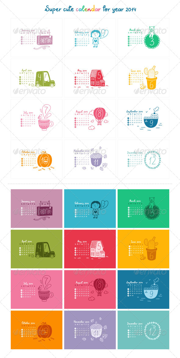 GraphicRiver Calendar 2014 5183630