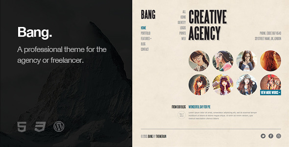 Bang WordPress Theme - Portfolio Creative