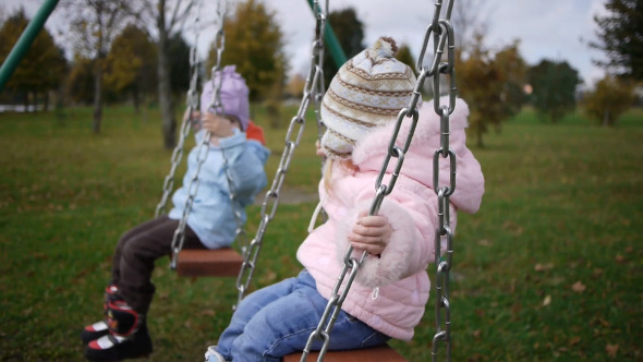 VideoHive Children Swinging 5183647
