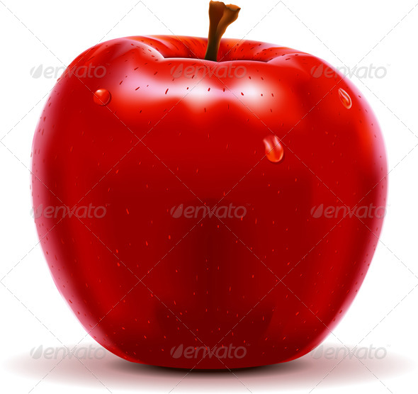 GraphicRiver Red Apple Isolated on White 5174410