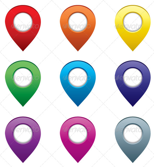 GraphicRiver Set of Map Pointers 5185952