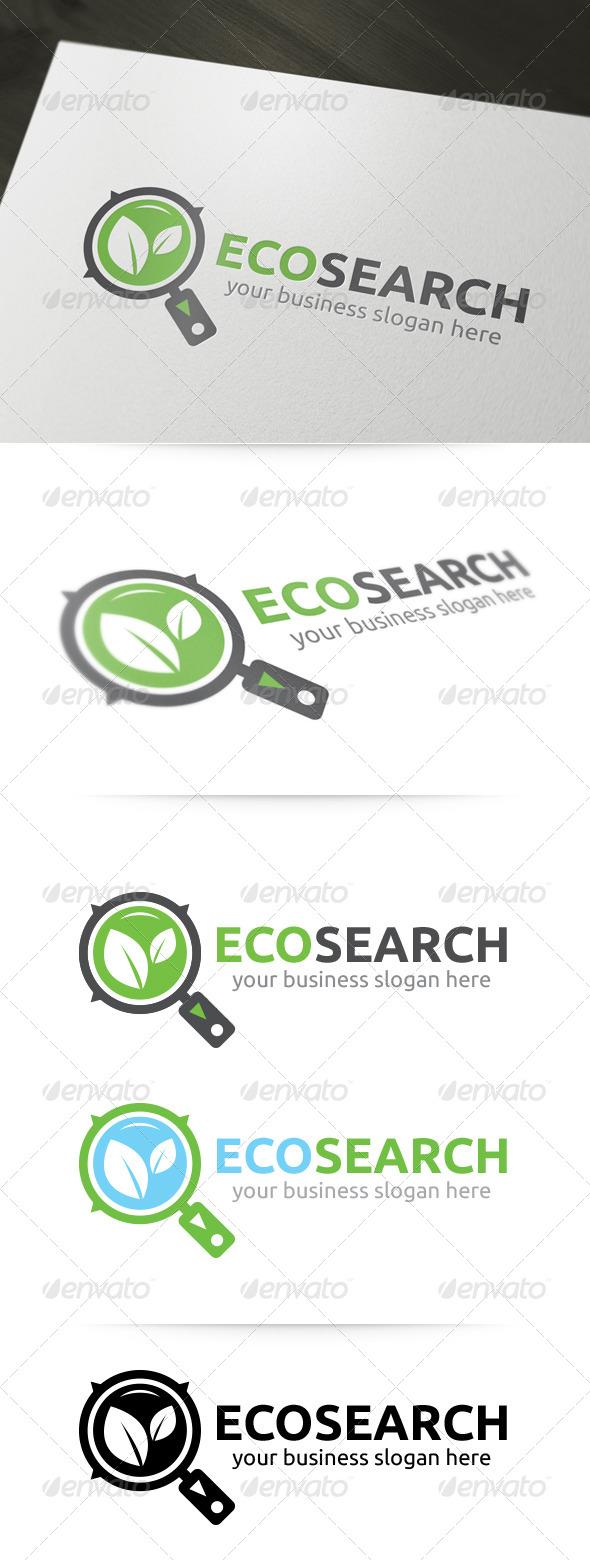 GraphicRiver Eco Search Logo 5186133