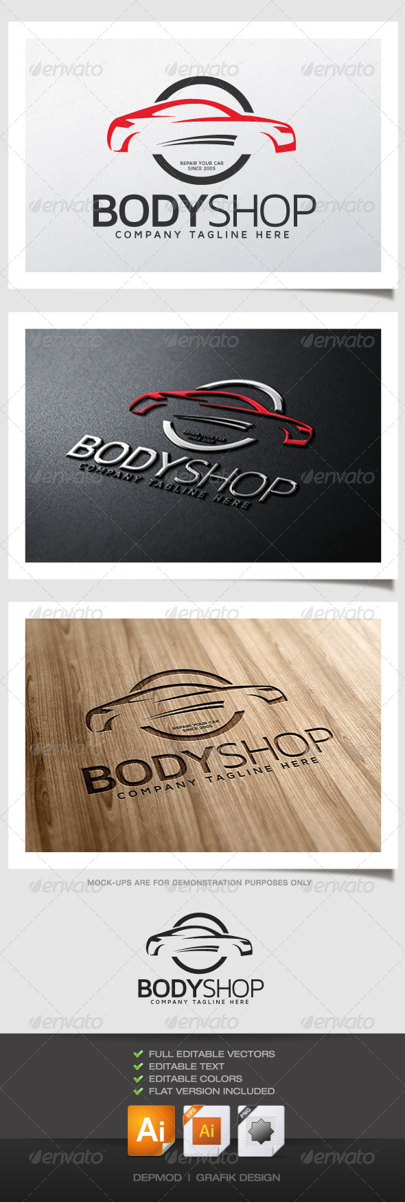 GraphicRiver Body Shop Logo 5186362