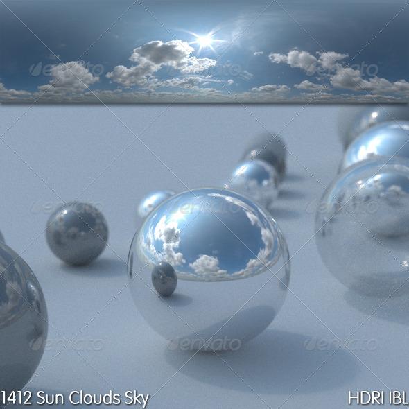 3DOcean HDRI IBL 1412 Sun Clouds Sky 5186386