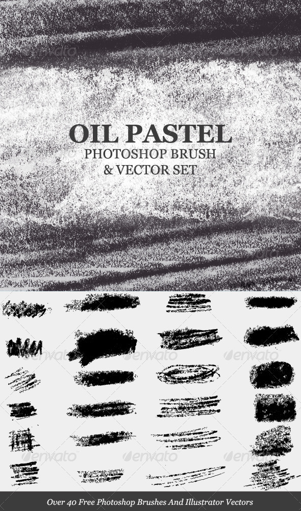 GraphicRiver Oil Pastel Strokes And Smudges PS Brush 532836