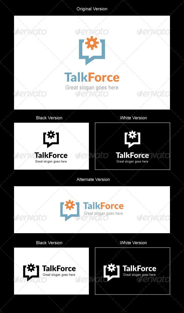 GraphicRiver Talk Force Logo Design 5187539