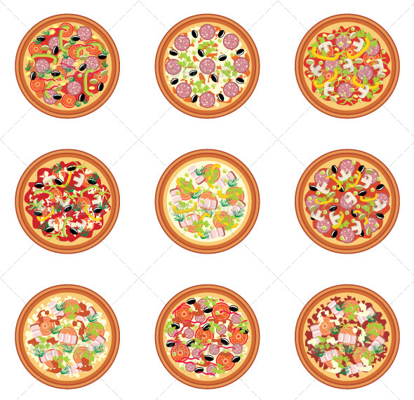 GraphicRiver Pizza set 5187688