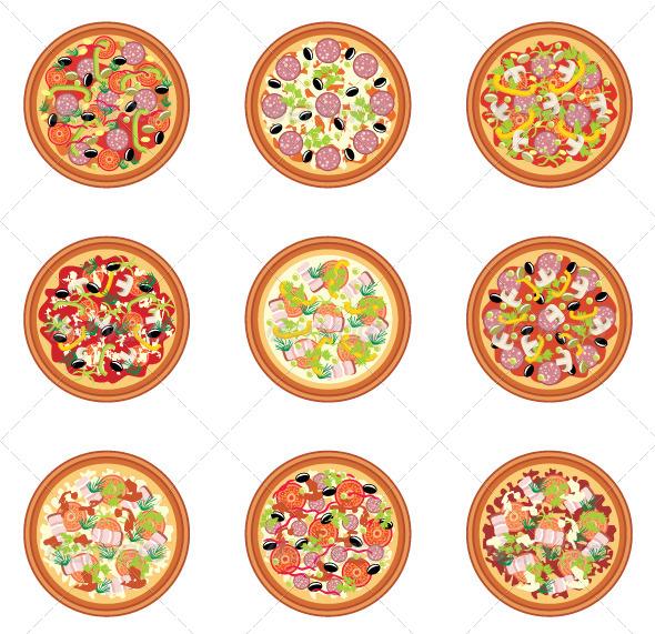 GraphicRiver Pizza set 5187688
