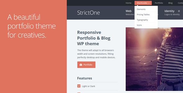 ThemeForest StrictOne Responsive Portfolio & Blog WordPress T 5125064