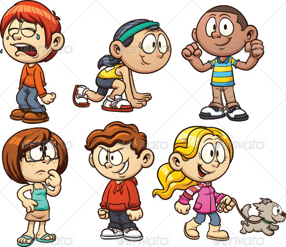 GraphicRiver Cartoon Kids 5189568