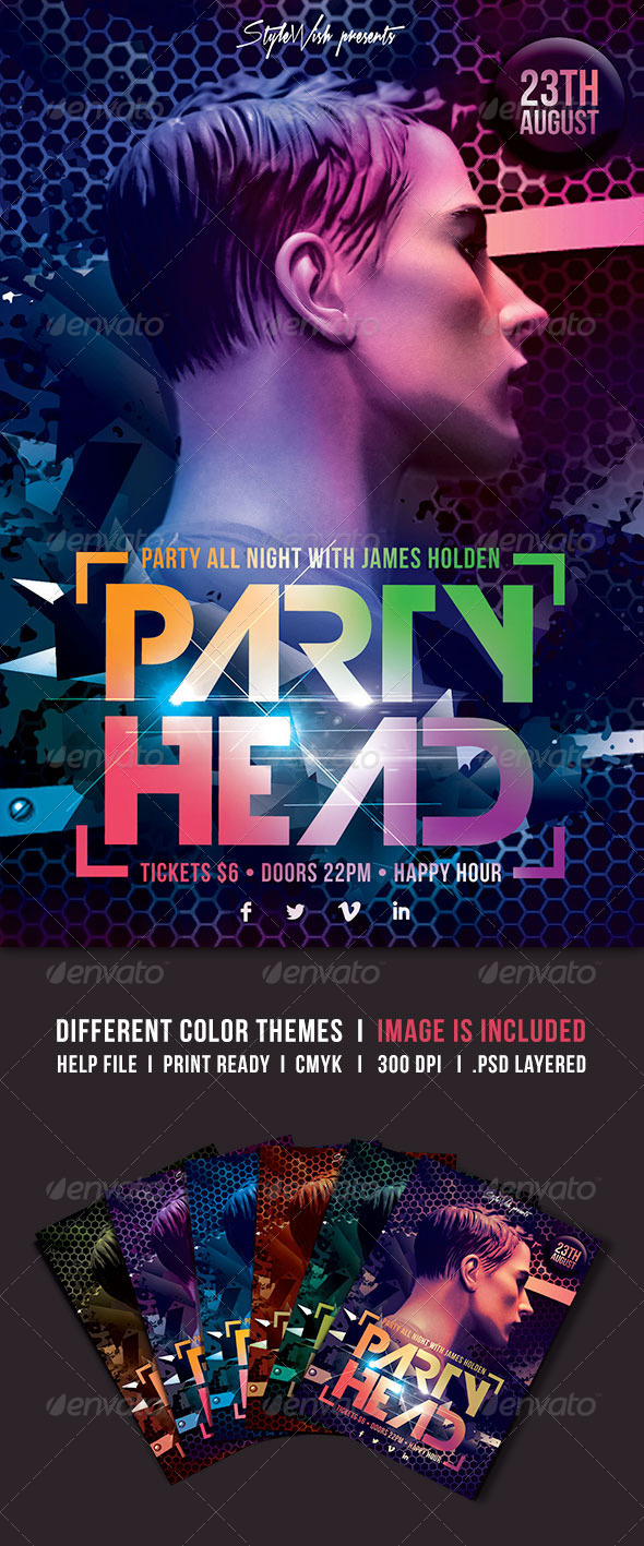GraphicRiver Party Head Flyer 5190896