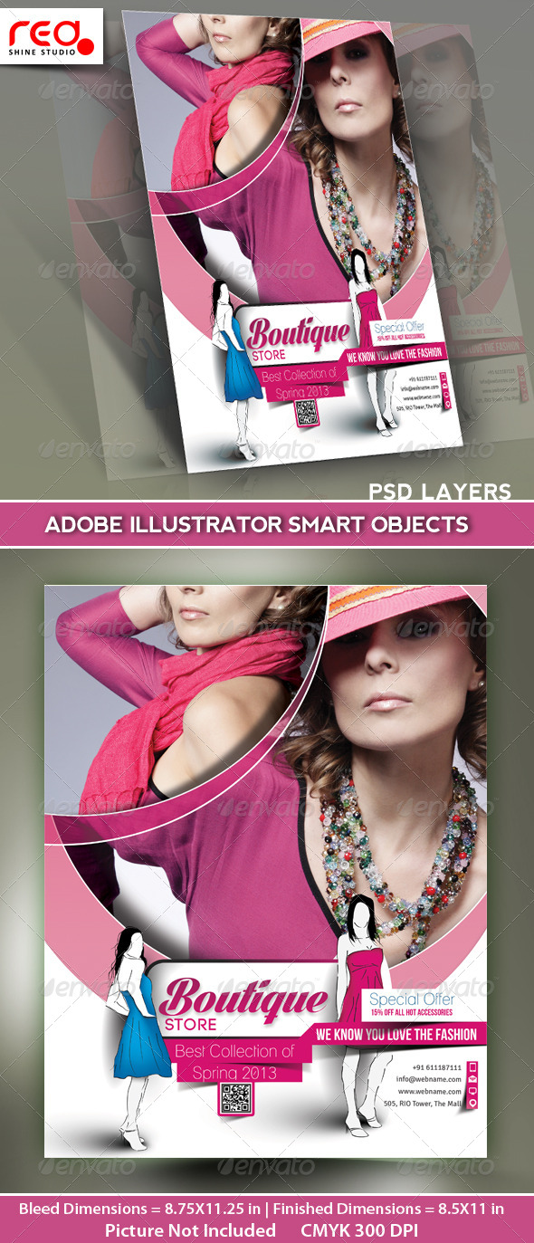 GraphicRiver Boutique Store Flyer Poster Magazine Template 5191300