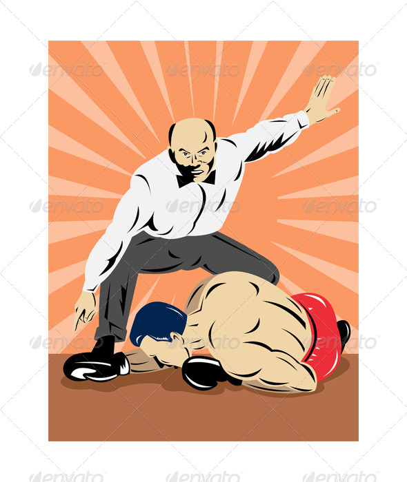 GraphicRiver Referee Counting Down a Boxer 5192081