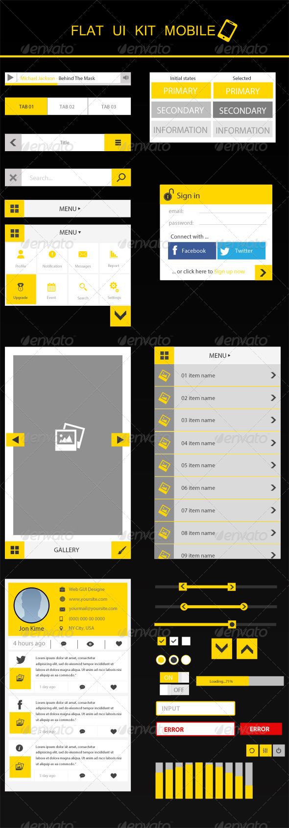 GraphicRiver Flat UI Mobile 5180765