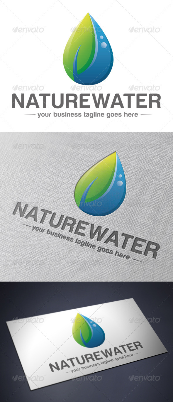 Natural Water Logo Template - Nature Logo Templates