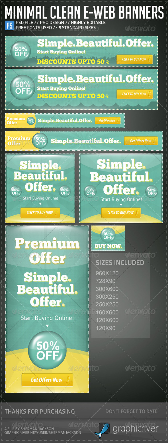 GraphicRiver Minimal Clean E-Web Banners & Ads 5192300
