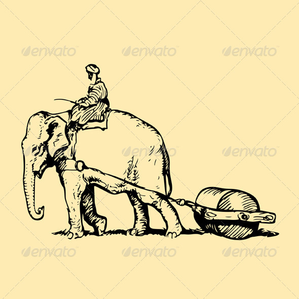 GraphicRiver Elephant at Work 5192433