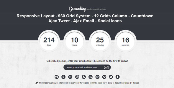 Grounding - Under Construction Page - Specialty Pages Site Templates