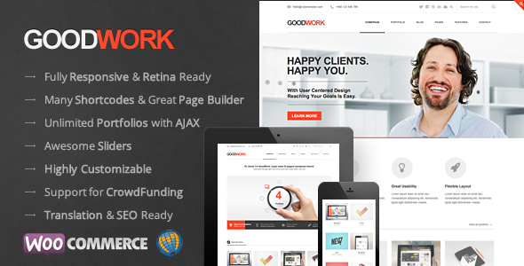 GoodWork - Modern Responsive Multi-Purpose WordPress Theme - Corporate WordPress