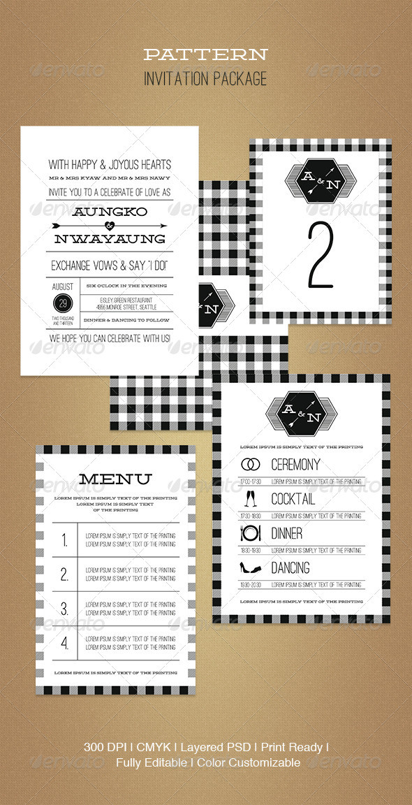 GraphicRiver Pattern Invitation Package 5194259