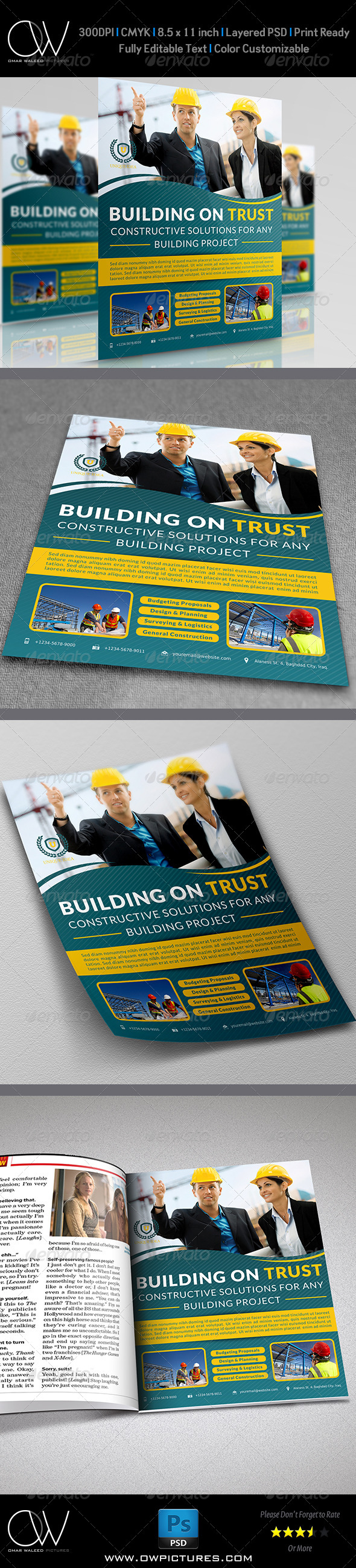 Construction Business Flyer - Corporate Flyers