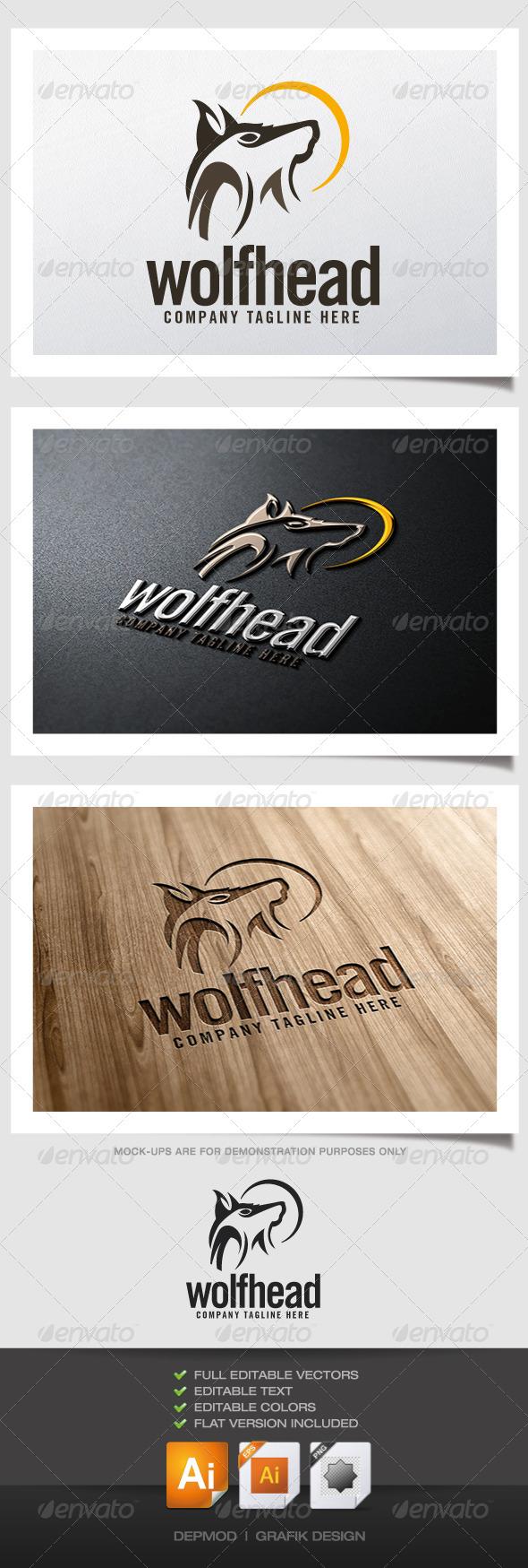GraphicRiver Wolf Head Logo 5194427