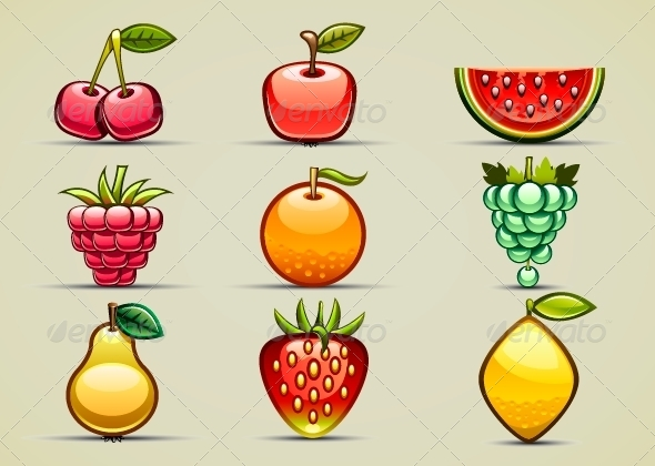 GraphicRiver Fruits Set 5194659
