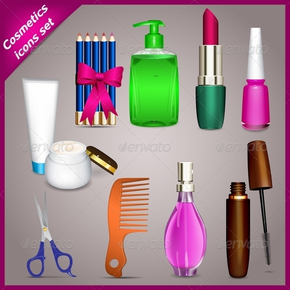 GraphicRiver Cosmetic Icons Set 5179637