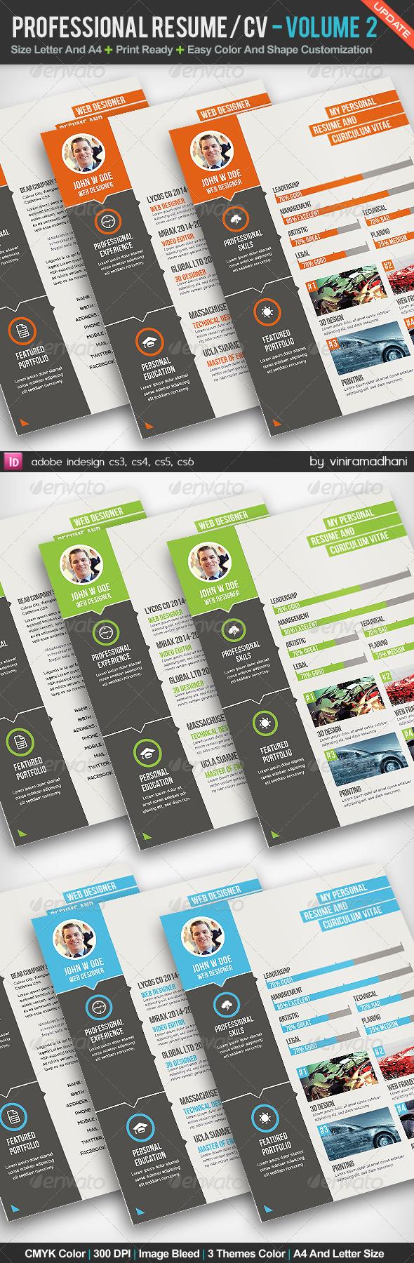 GraphicRiver Professional Resume CV Volume 2 5196376