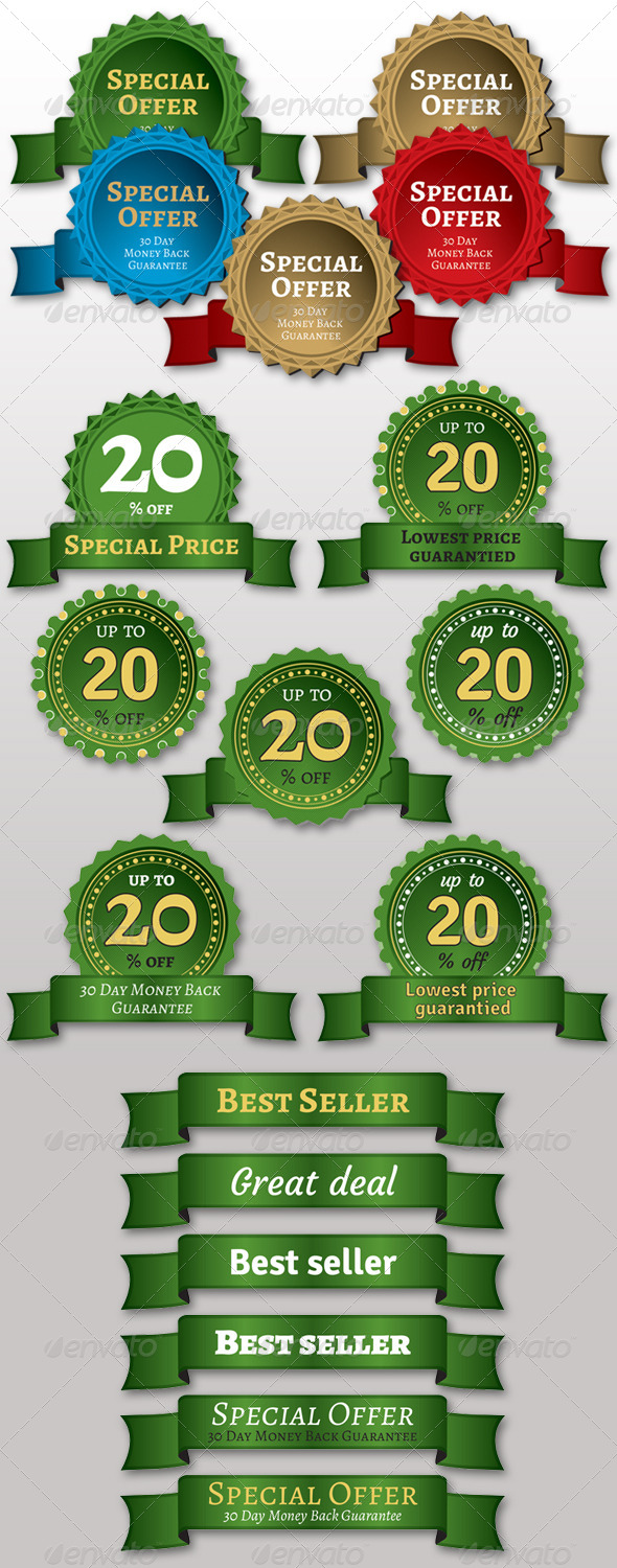 GraphicRiver Price Stickers & Ribbons 5196996