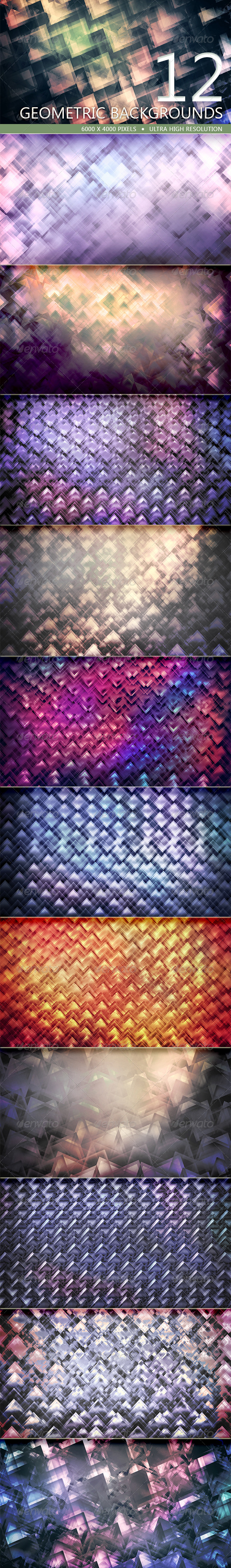 GraphicRiver Geometric Backgrounds Volume 1 5197414