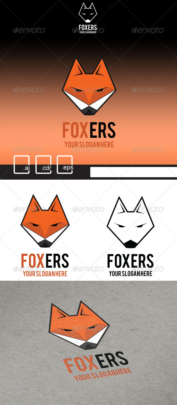 GraphicRiver Foxers Flat Fox Logo 5198215